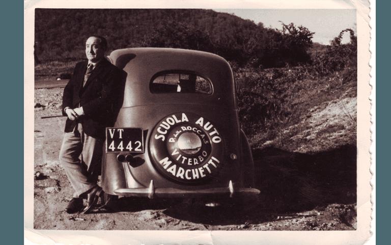Pubblicità storica Autoscuola Marchetti