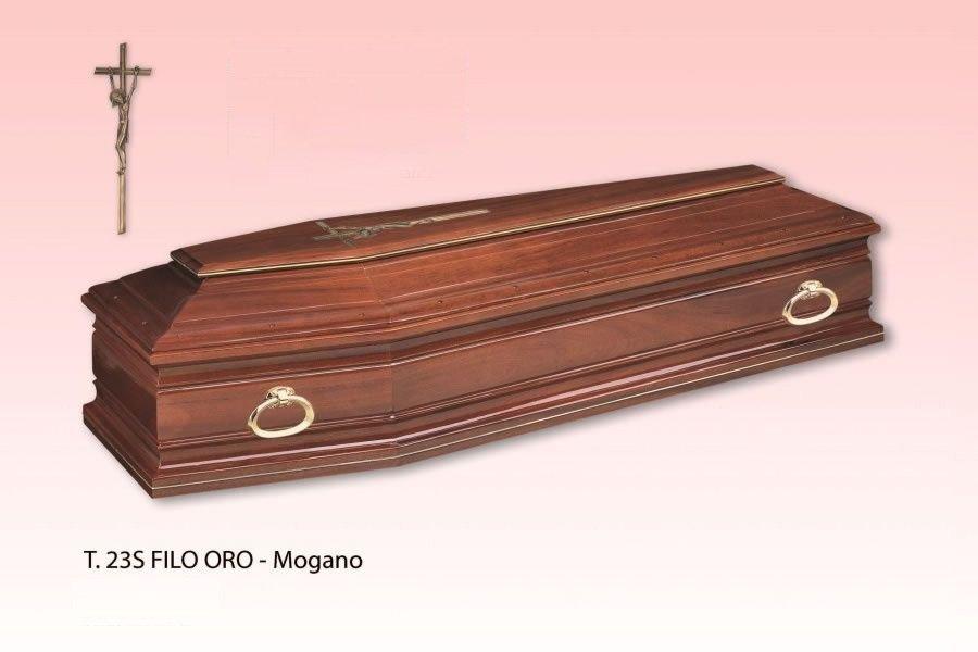 cassa da morto marca di T.23S Filo Oro - Mogano