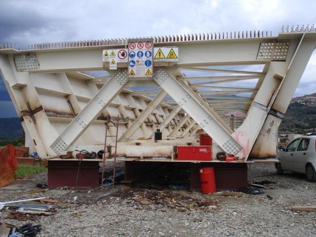 Controlli saldature struttura ponte