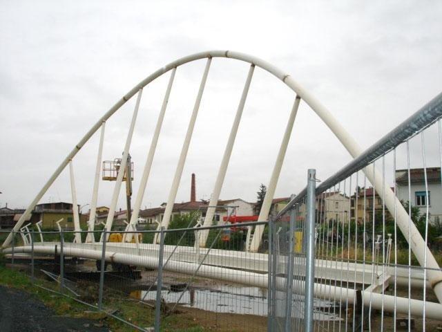 Controlli saldature passarella pedonale zona Montevarchi