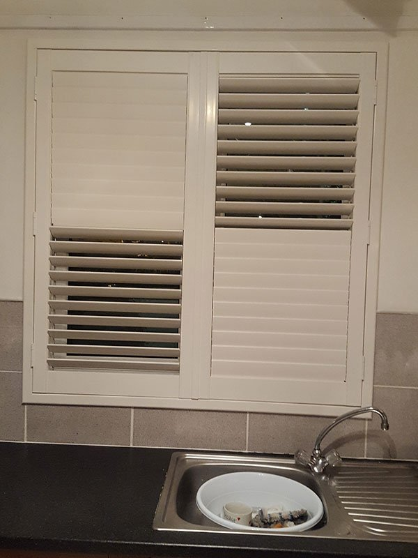 partially closed blinds