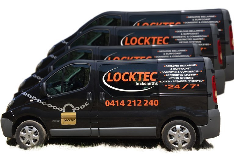 Vans used by our mobile locksmiths in Geelong
