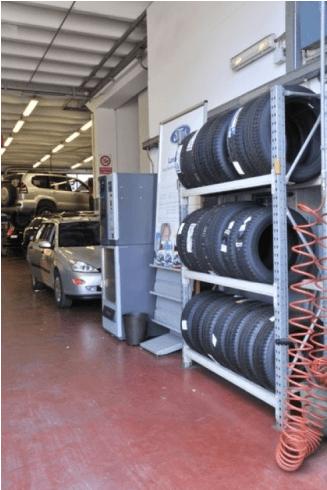 autofficina servizio di sostituzione coperture auto