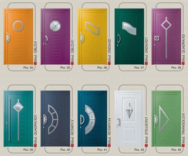pannello con diverse forme e colorazioni
