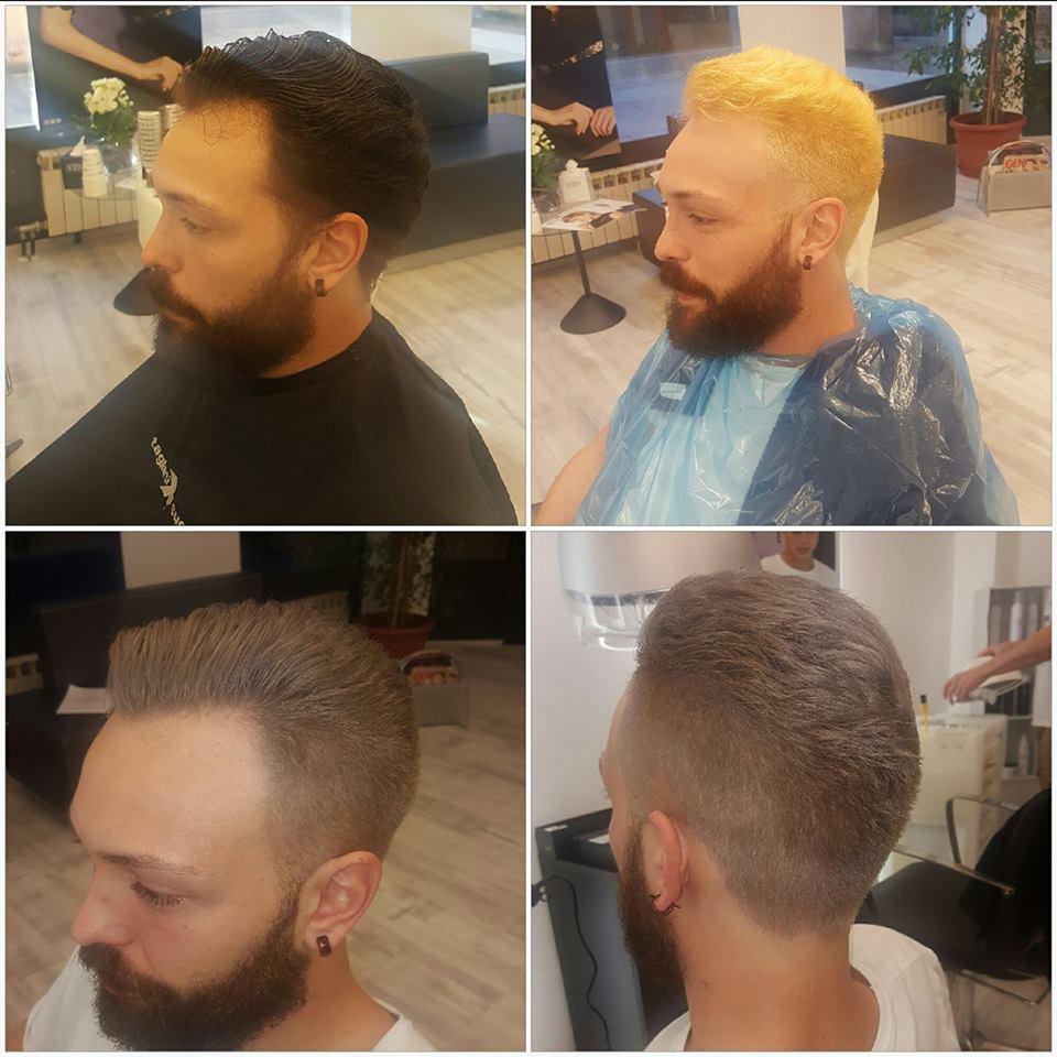 un collage di immagini di alcune tinte di capelli