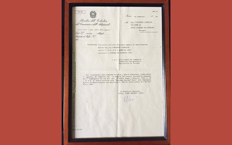 Iscrizione albo Nazionale agenti di Assicurazione