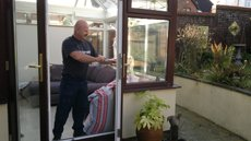 Rob working on a customers new conservatory