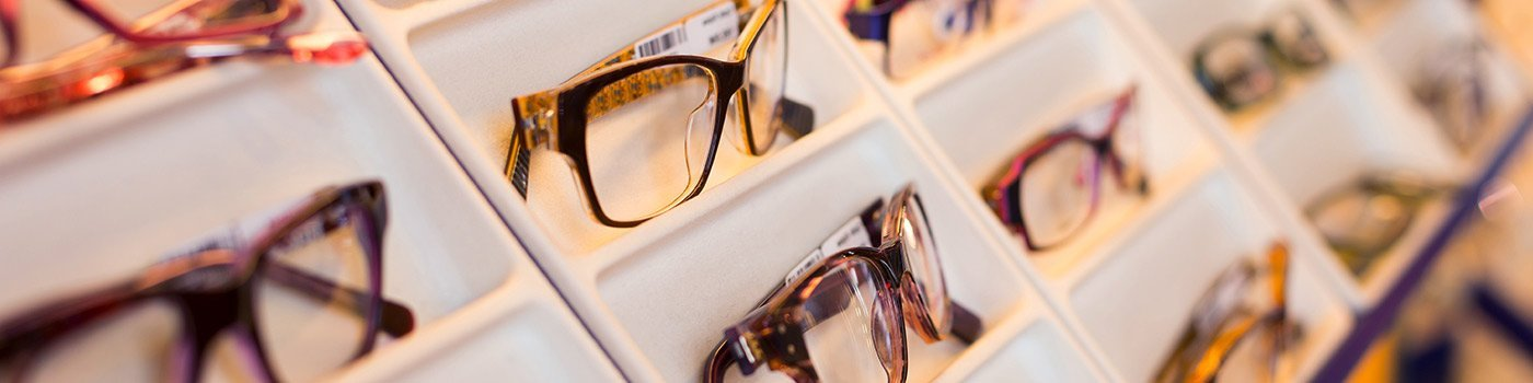 Range of frames in a South Yarra optometrist