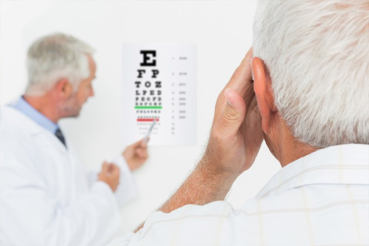 An eye exam at the optometrist in South Yarra
