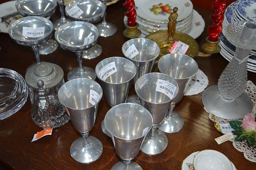 Bicchieri in metallo