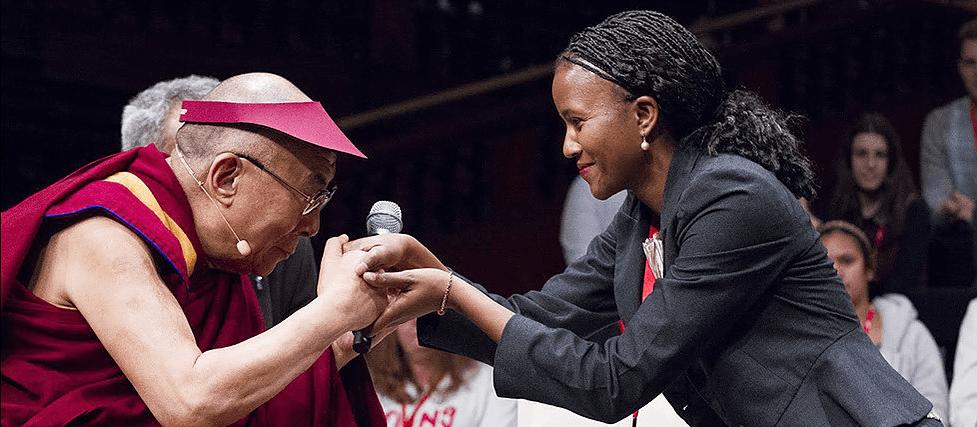 Dalai lama and Nkandu Beltz