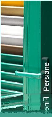 persiane in legno, persiane in alluminio, persiane in vari colori