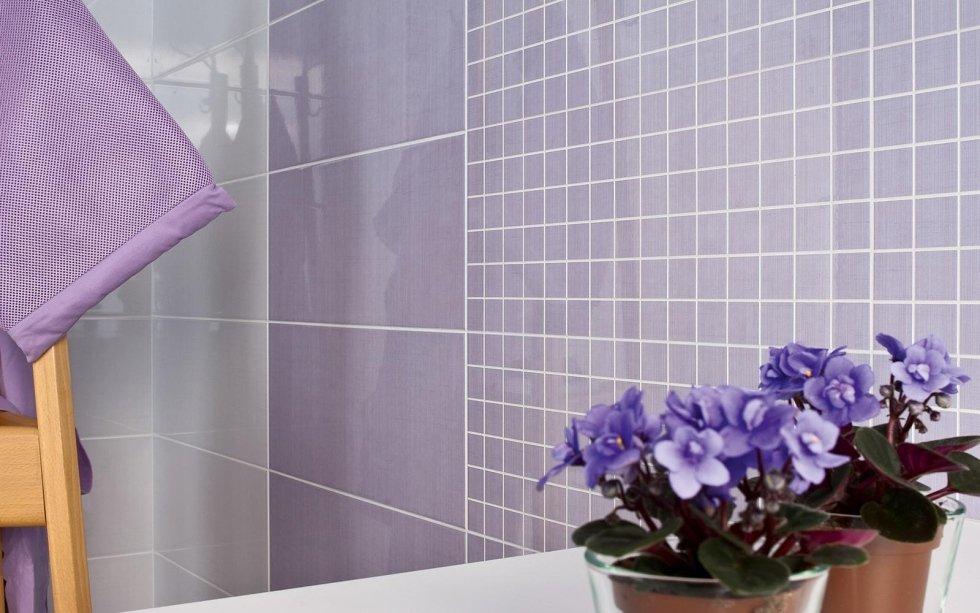 bagno bianco lilla