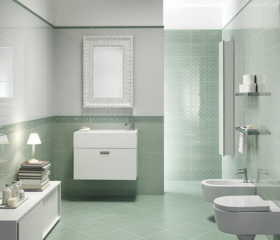 bagno bianco verde
