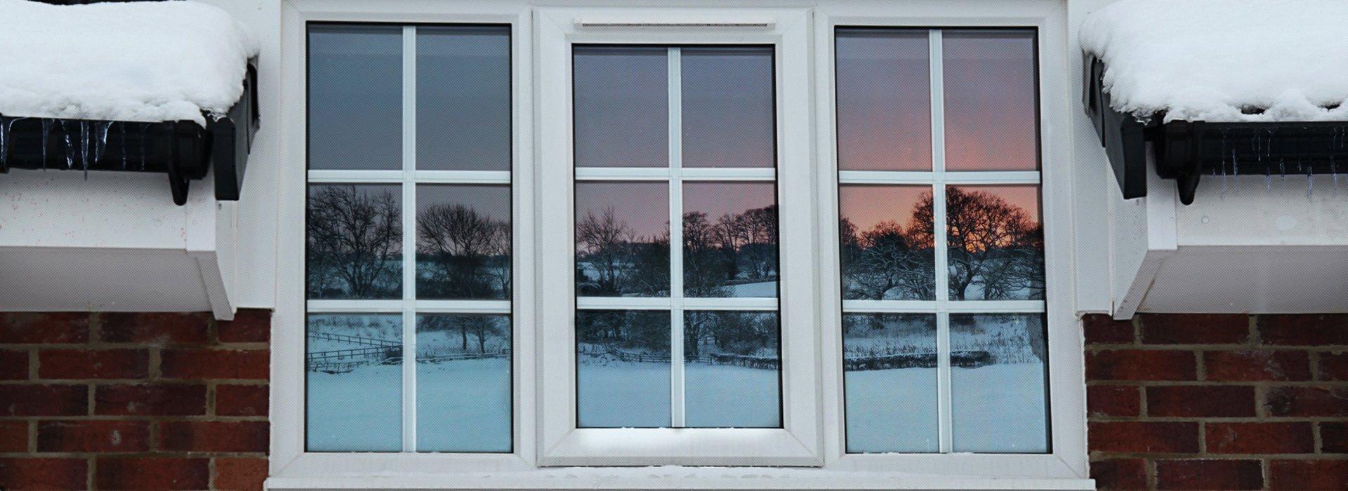 A double glazed window