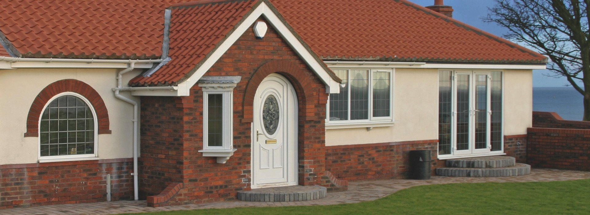 A bungalow with double glazing
