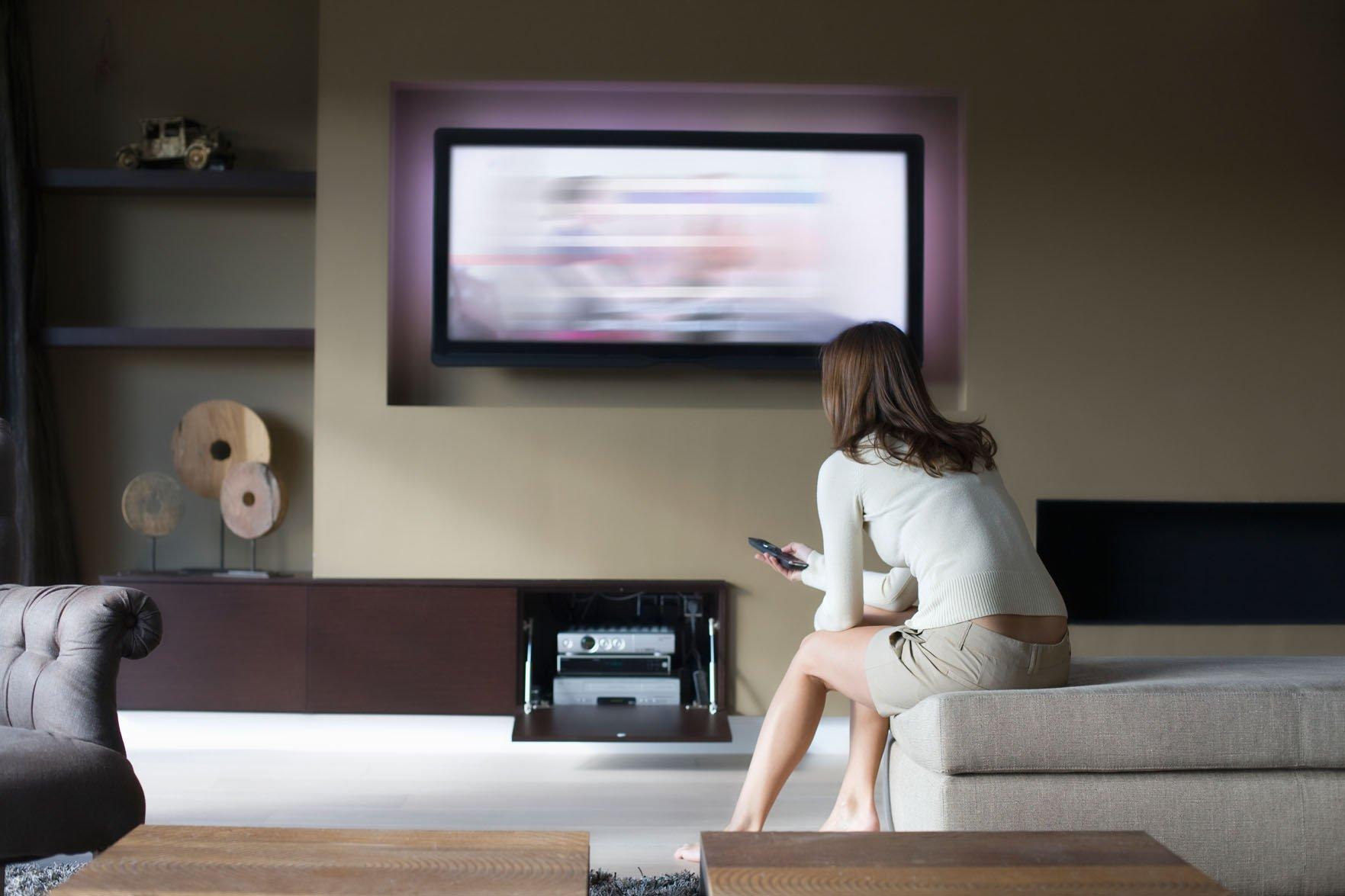black television