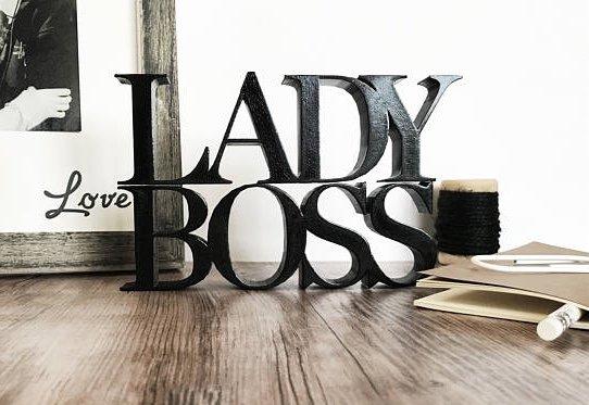 Lady Boss Self-Standing Decor