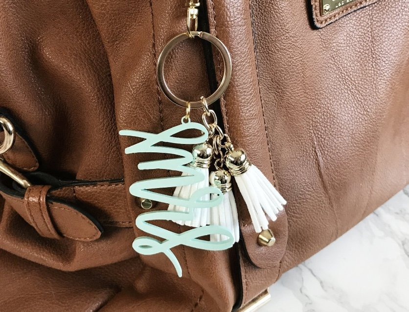 Hand-Lettered Keychain