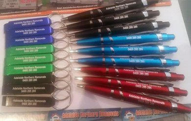 adelaide northern removals keychain and pen