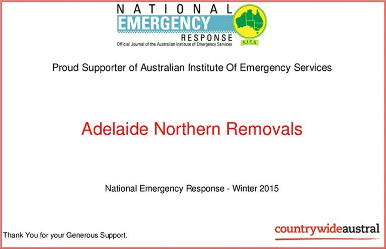adelaide northern removals ner certificate