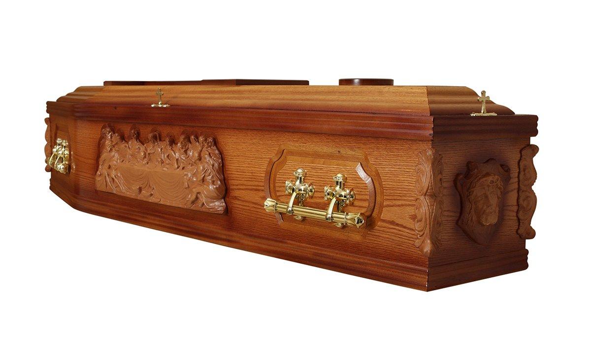 Beautiful brass handles on coffins