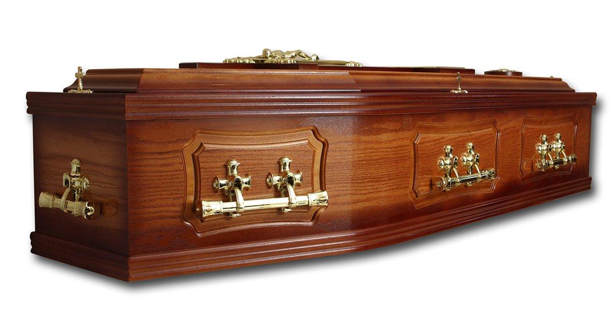 Dark wood coffin