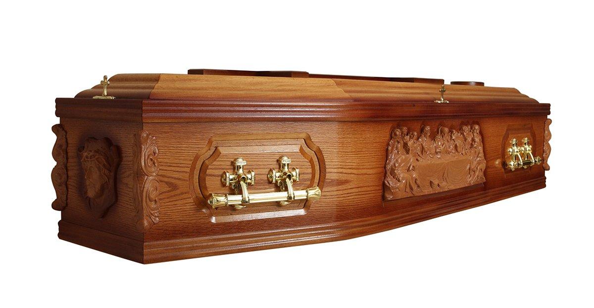 Solid mahogany wood coffin