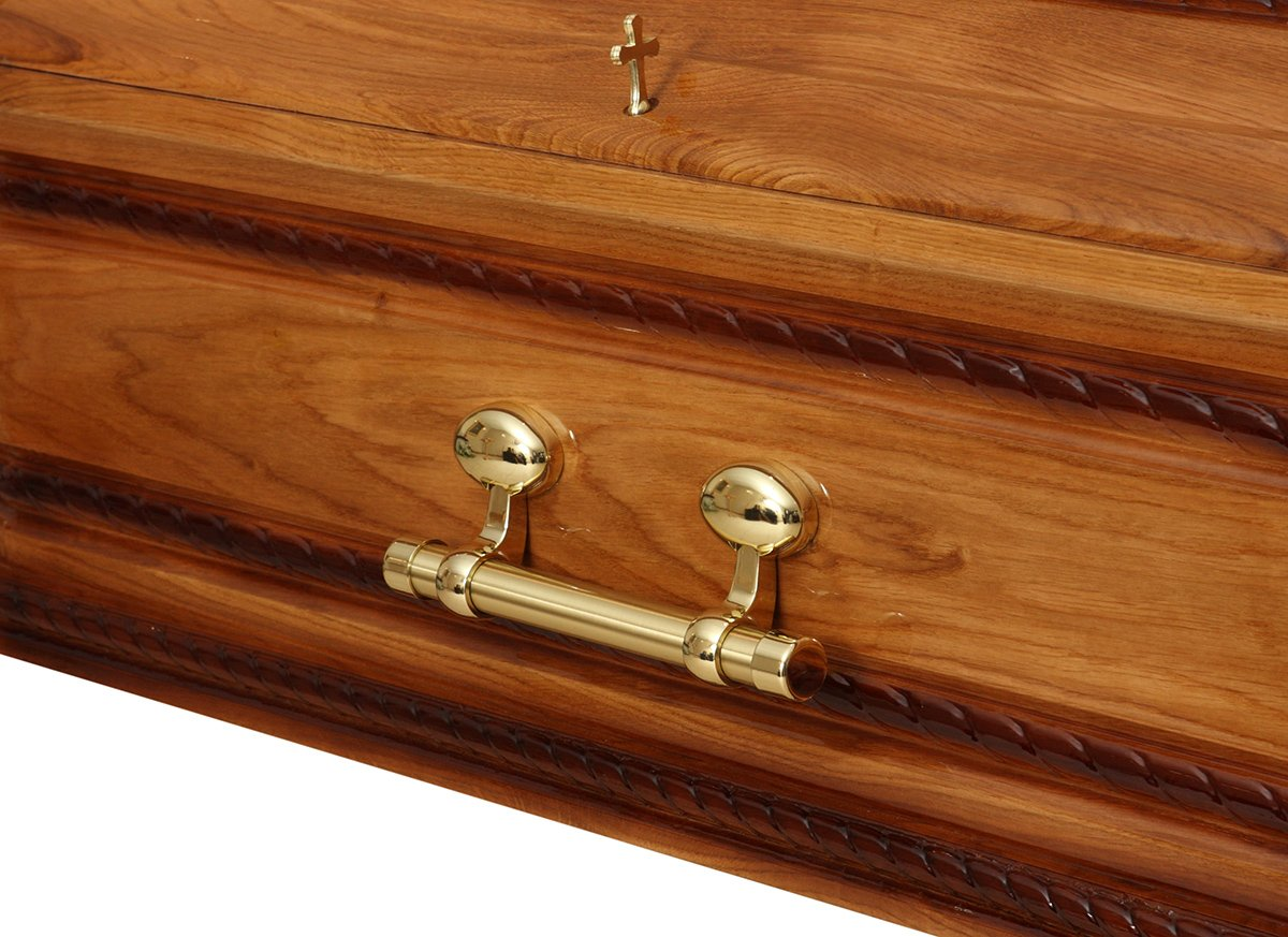 Coffin with a crucifix