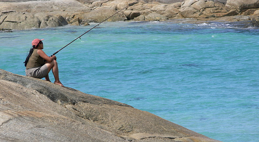 Relax with a fishing rod - cook your catch for supper!