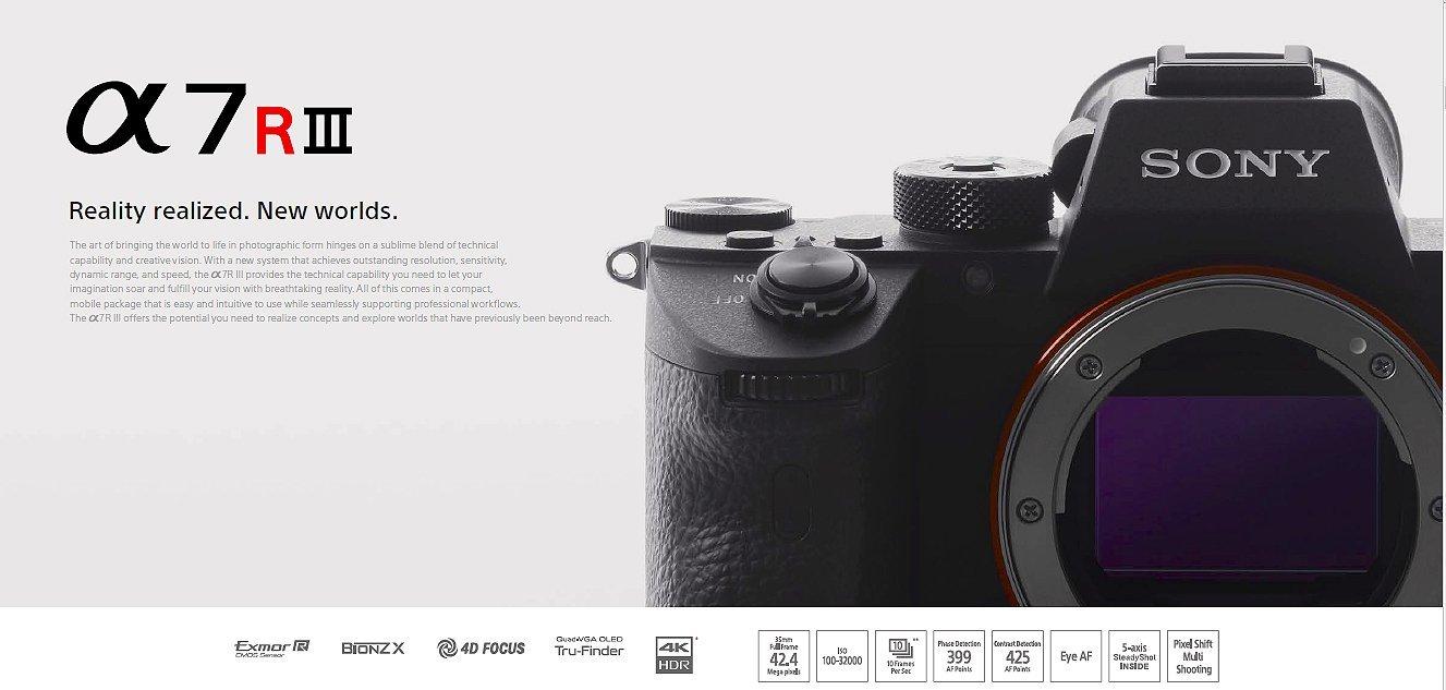Giới thiệu và so sánh Sony A7R mark III