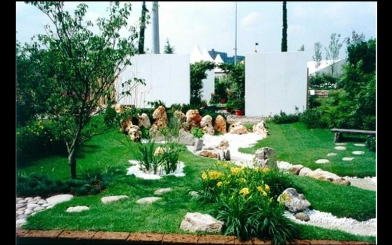 Giardino allestito