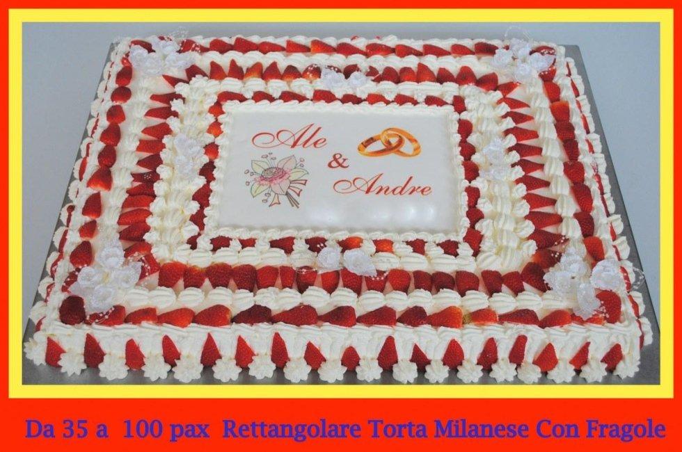 torta milanese con fragole
