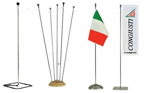 Basette per bandiera da tavolo con astina