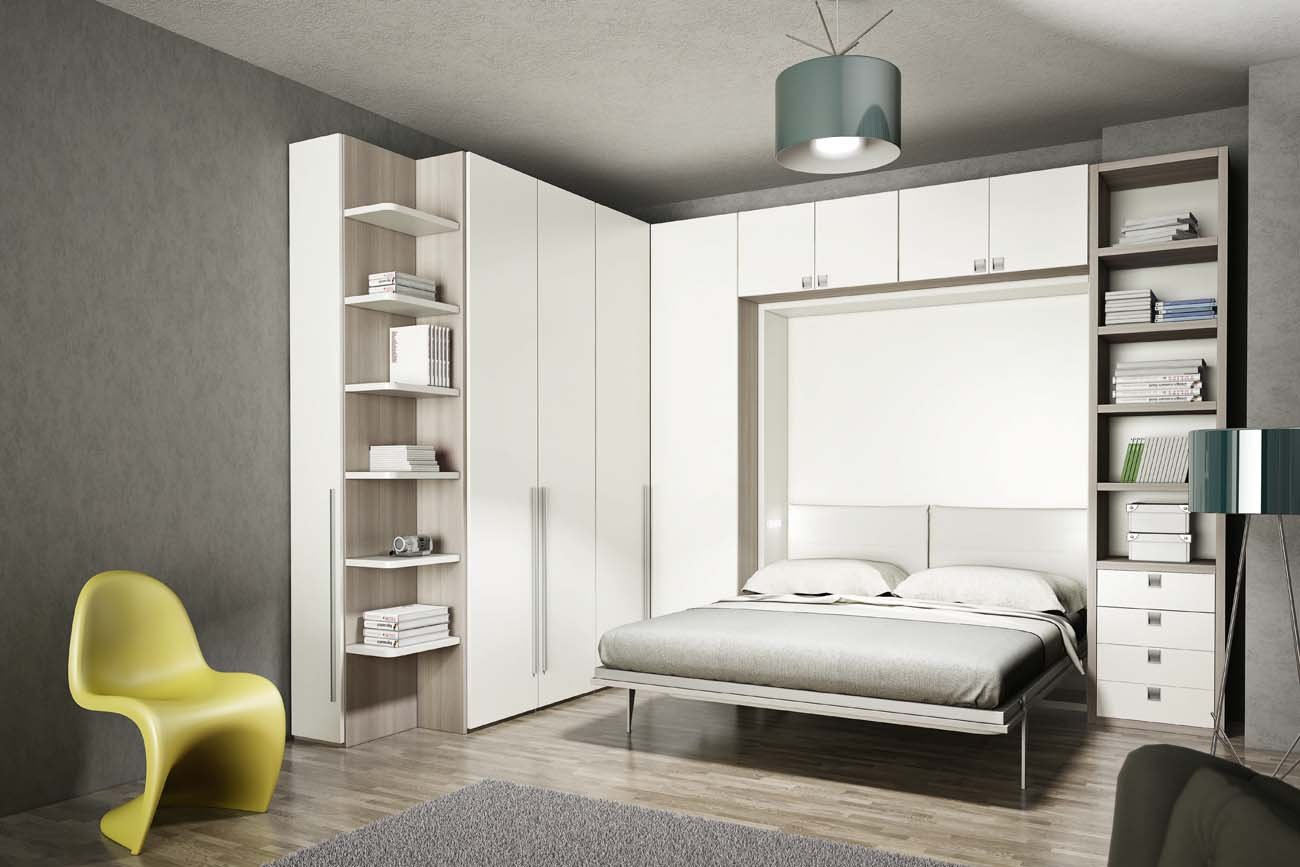 Good armadio letto a scomparsa system live u n with letto - Letto nell armadio ...