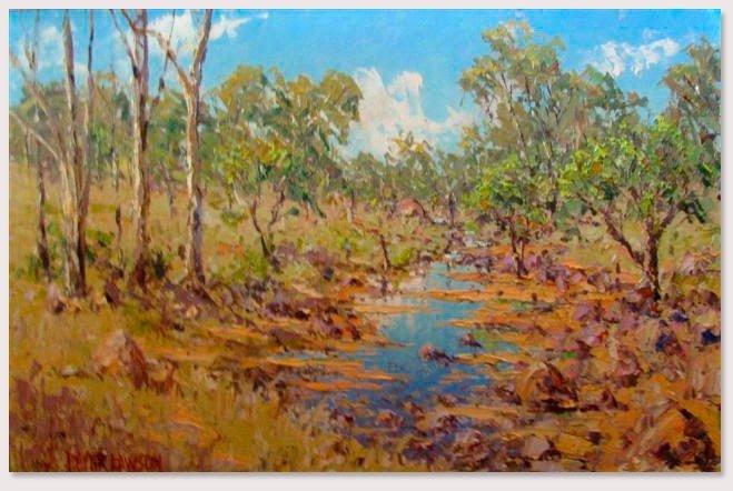 peter lawson australian landscape painting