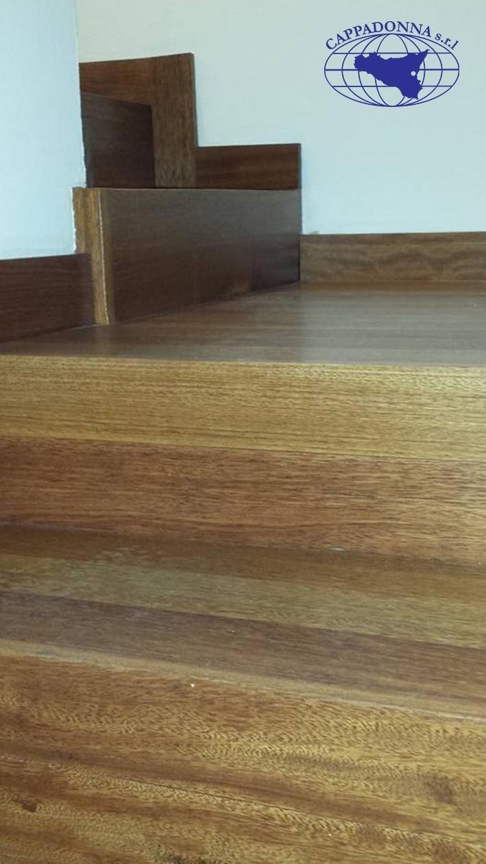 realizzazione di scale in legno massello