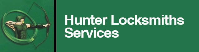 hunter locksmith services business logo