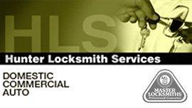 hunter locksmith services business logo