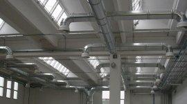 condizionamento industriale, condizionamento capannoni, canalizzazioni in alluminio