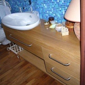 mobile legno bagno