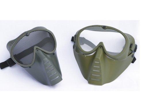 Maschere protettive con rete o lente.