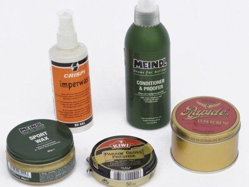 Prodotti per la pulizia ed il mantenimento della scarpa,grasso,grasso sprite e crema ottima per il nabuk