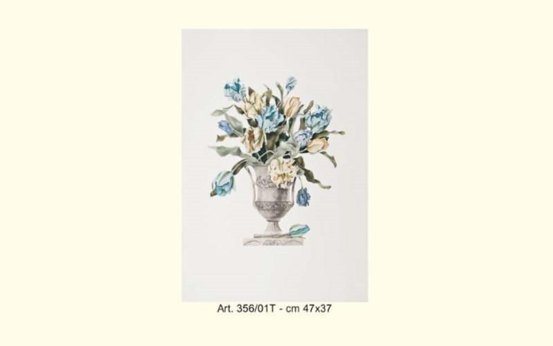 stampa coppiera con fiori