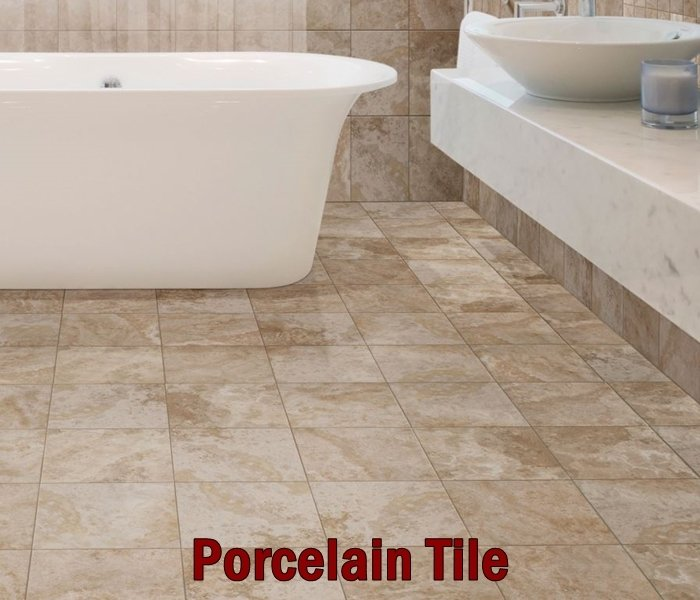 Porcelain tile flooring done in Chesterfield, MO