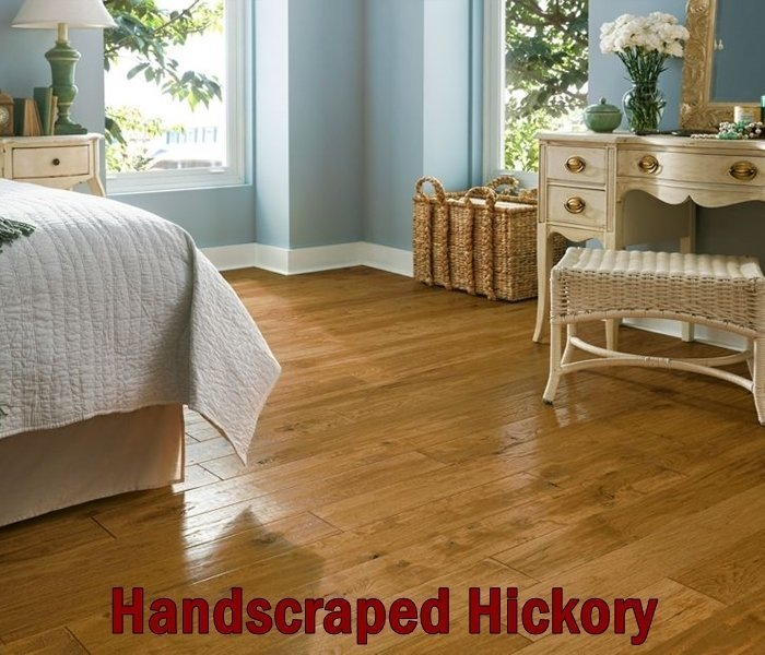 handscraped Hickory flooring done by experts in Chesterfield, MO