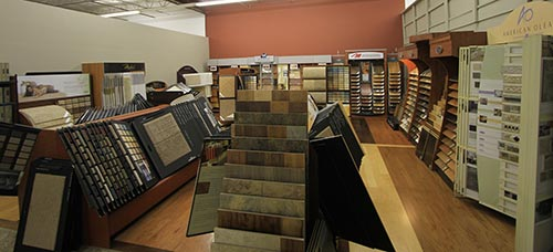 View of the flooring option at the showroom in Chesterfield, MO
