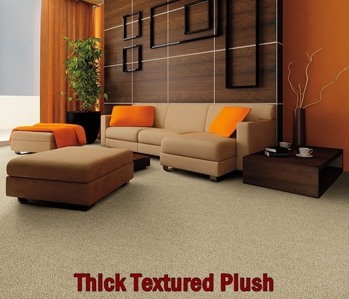 Thick textured plush carpet installation in Wide range of options at the showroom for flooring in Chesterfield, MO