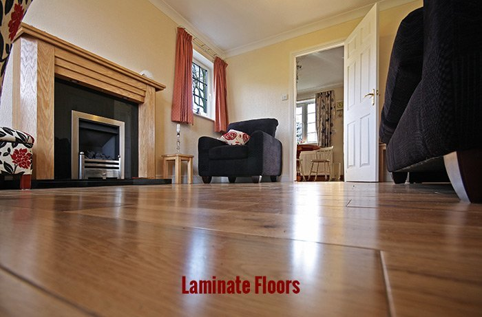 View of the laminate floor
