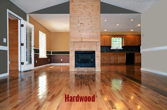View of a hardwood flooring